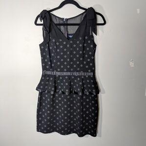 Charlotte Russe Eric Daman Black Polka Dot Dress
